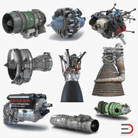 aircraft engines 3d max
