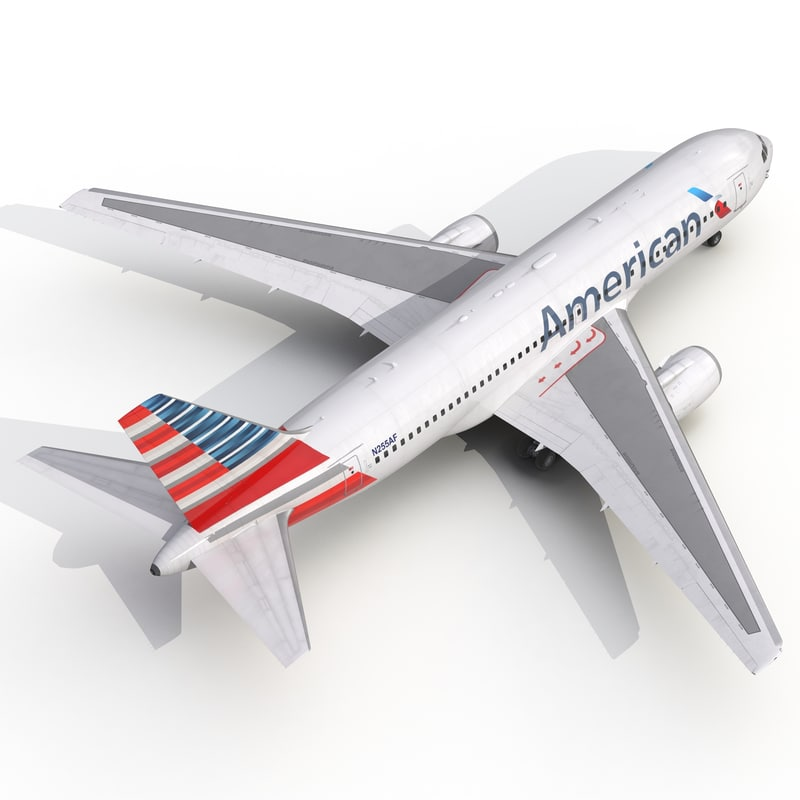 boeing 767-200 american airlines 3ds