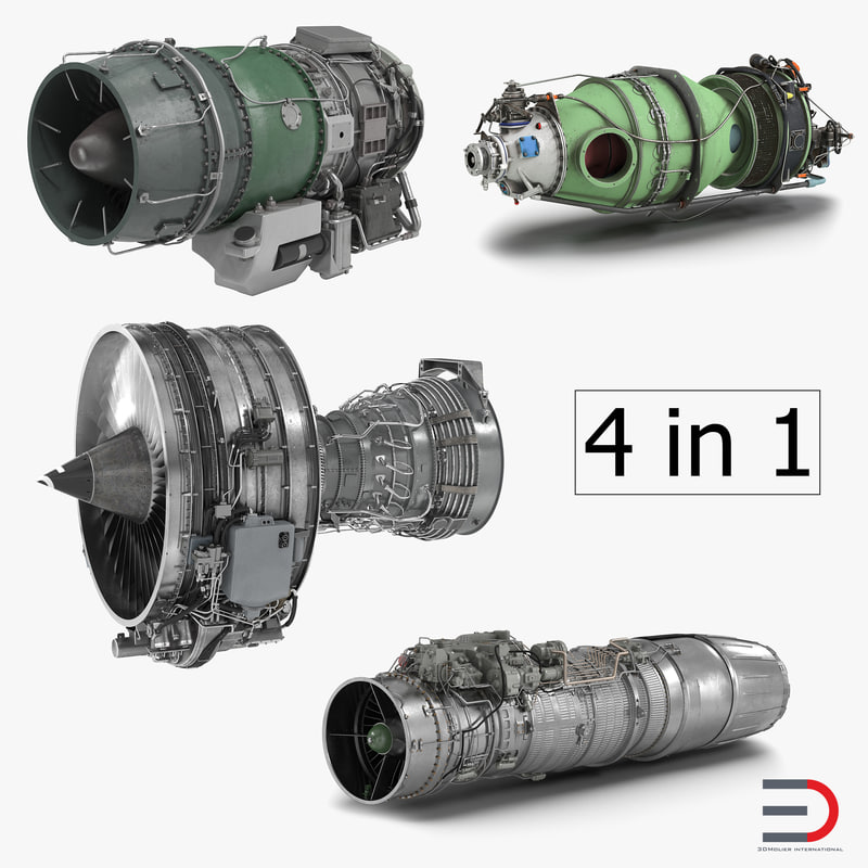 3d model turbofan engines 2