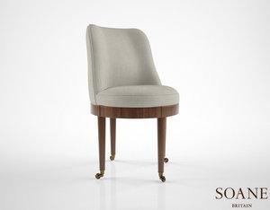 soane swivel gallery chair 3d obj