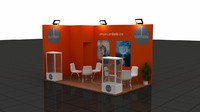 max fair exhibition wooden stand