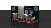 3d fair exhibition wooden stand