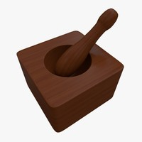 mortar pestle 3d model