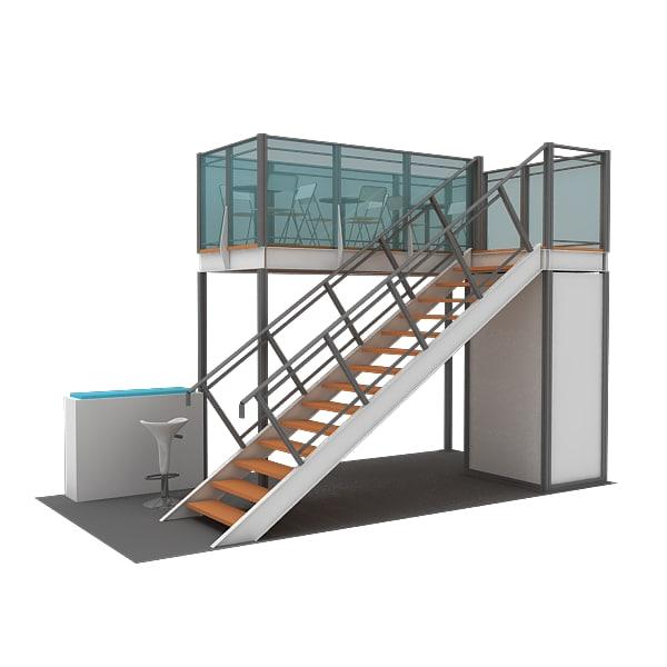 structure maxima double deck 3d model