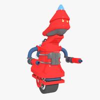 robot character 3d max