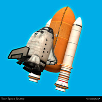 Toon Space shuttle