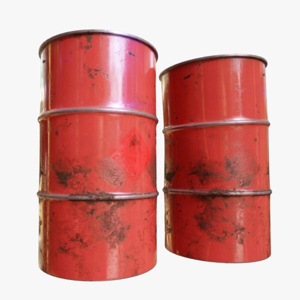 3d oil barrel