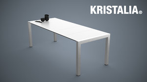 kristalia sushi alucompact table 3d model