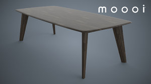 tapered dining table moooi 3d model