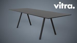 vitra a-table 3d obj