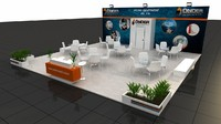 3d model fair exhibition wooden stand