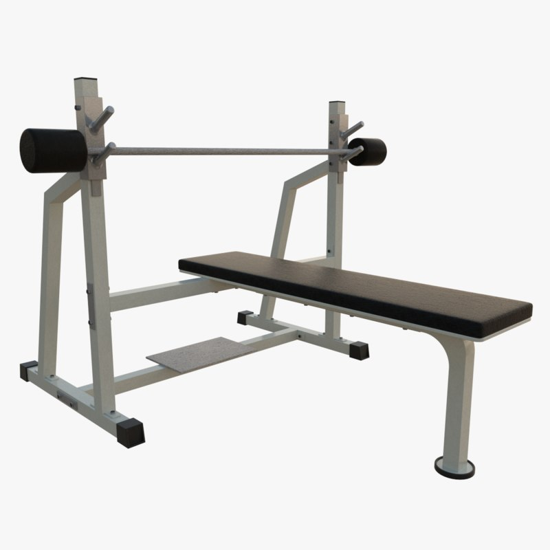 3d model olympic flat bench