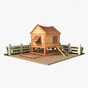 chicken coop 3d max