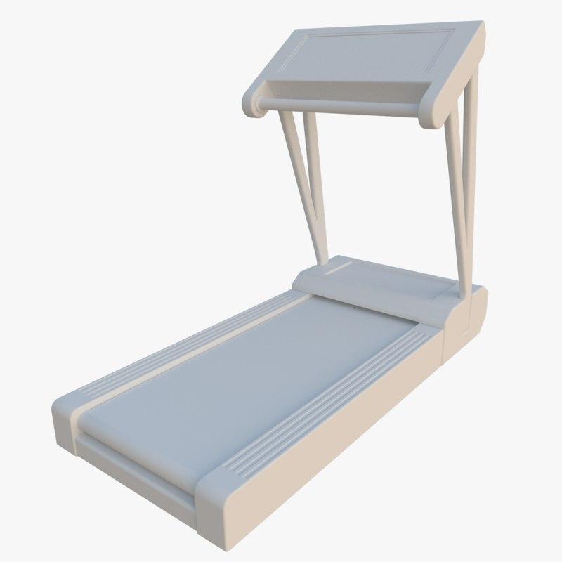 treadmill 3d obj