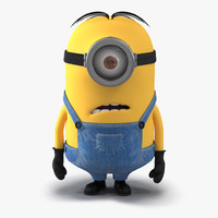 3d short eyed minion pose model