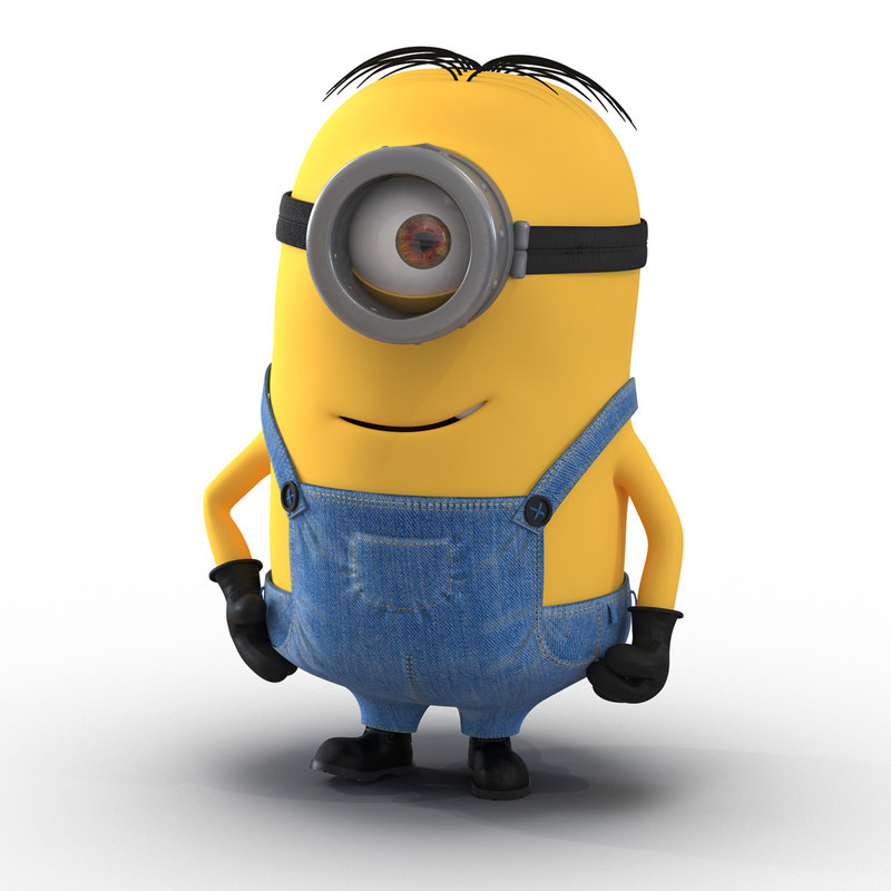short eyed minion rigged 3d model