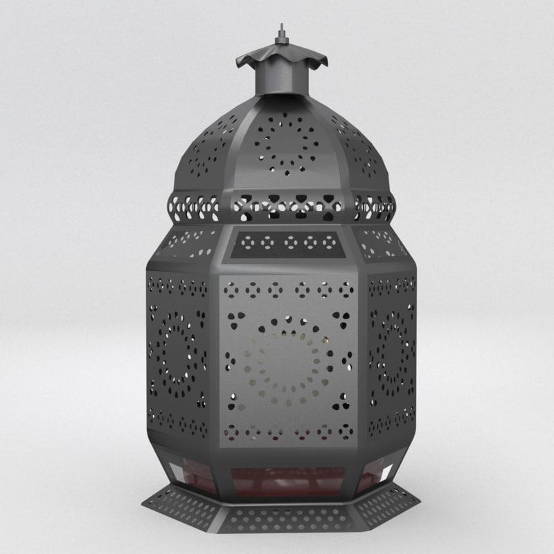 3d moroccan lantern lamps