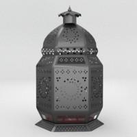 moroccan lantern lamps obj