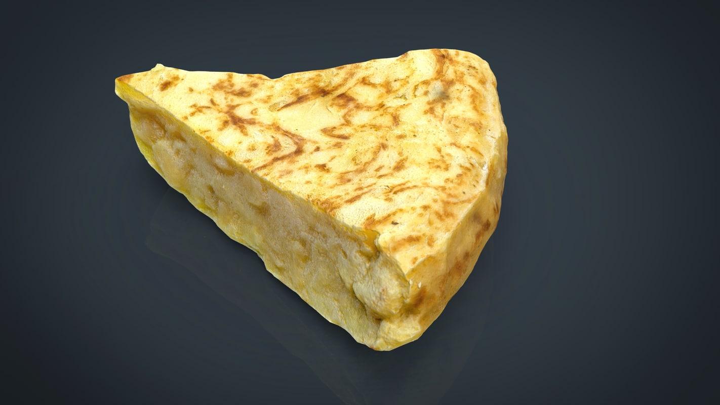 3d spanish omelette model