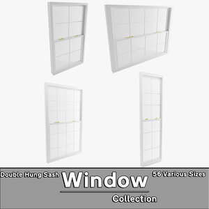 3d model double hung sash window