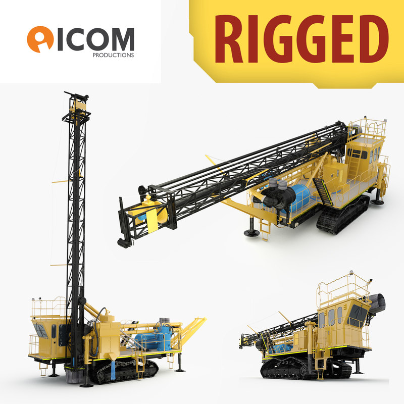 3d rigged drilling machine