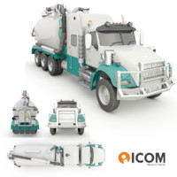 hydro excavation hydrovac truck 3d 3ds