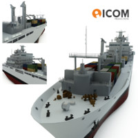 3d joint support vessel ship