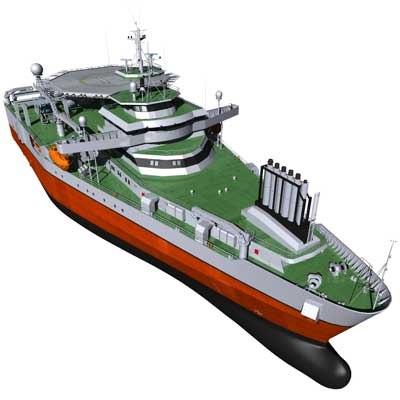 3d model seismic vessel