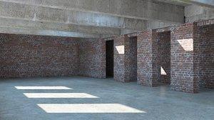 3d model industrial room