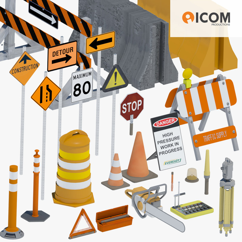 3d model of road construction tool equipment
