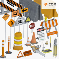 Road Construction Tools and Equipment Bundle