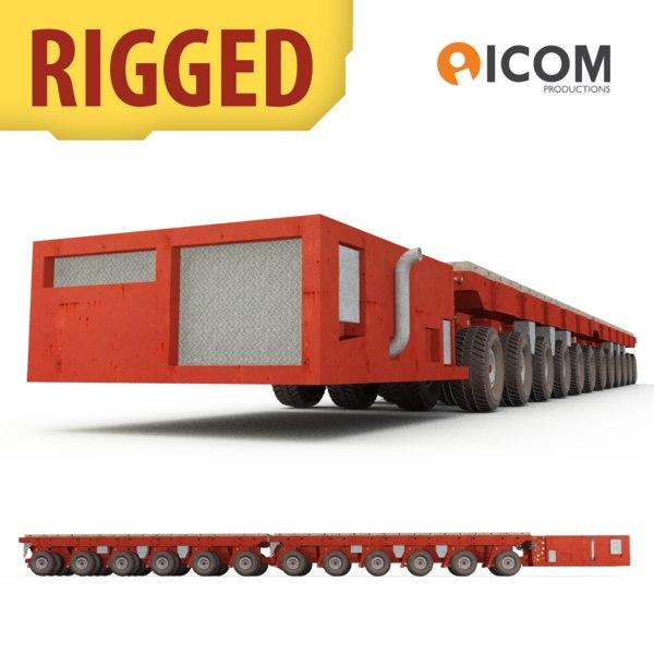 3d rigged self-propelled modular transporter model