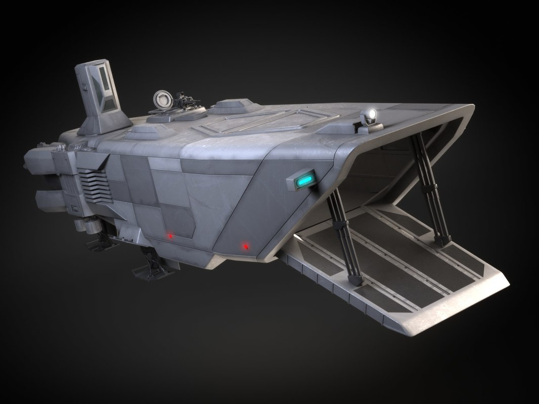 star wars transporter 3d model