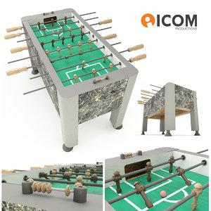 3d play foosball table
