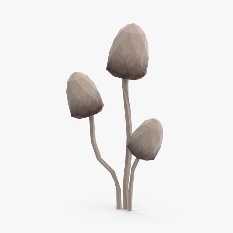 gray mushroom 3d max