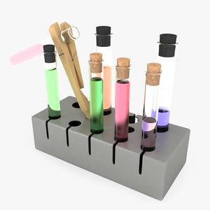 3d model test tube rack