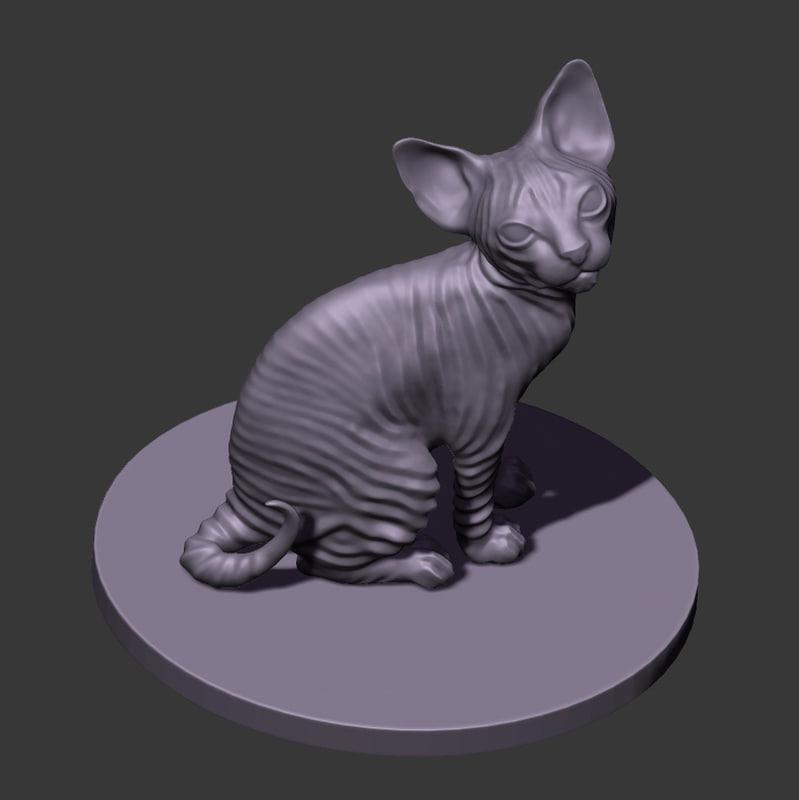 3d model of kitten sphinx