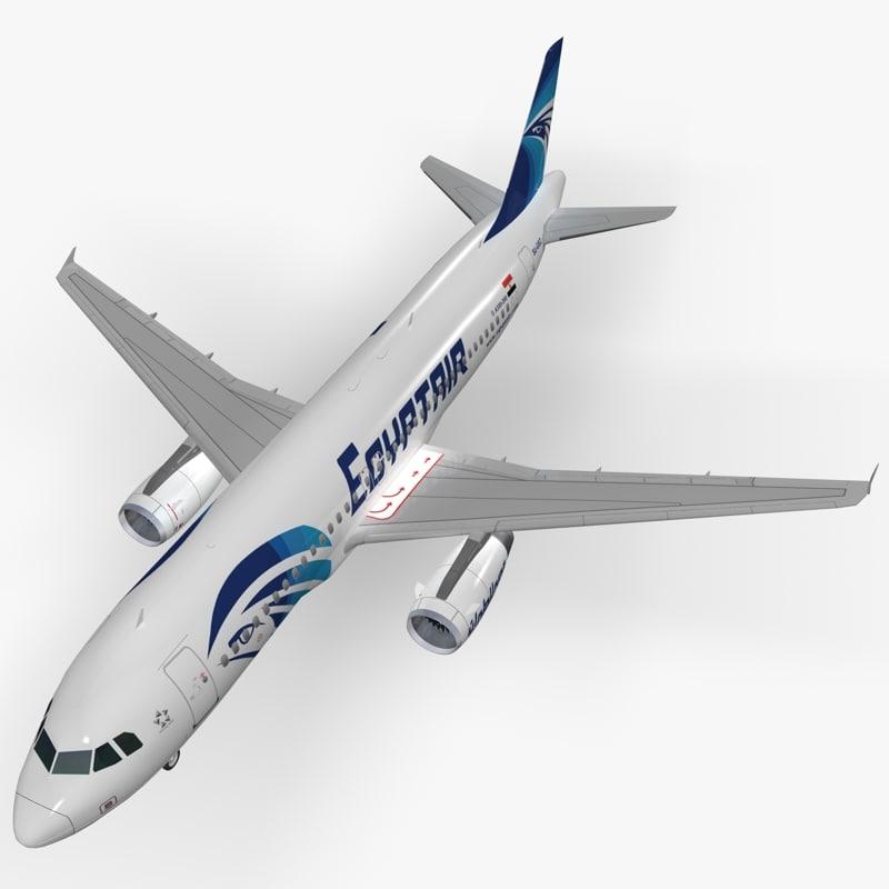 3d model airbus egyptair