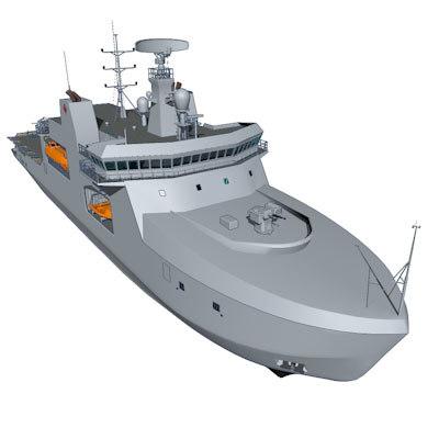 3d model arctic patrol ship