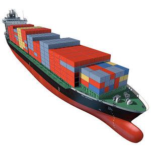 container vessel 3d model