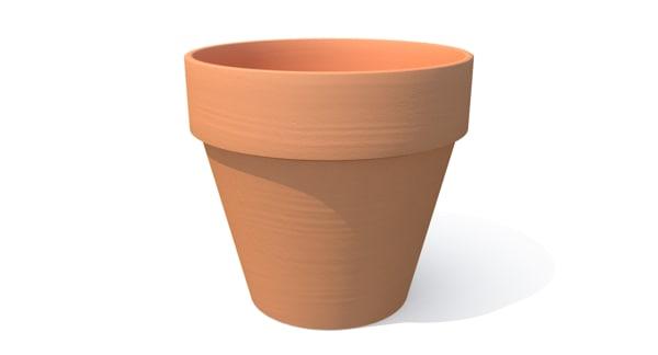 3d terracotta pot model