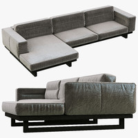 restoration hardware durrell leather 3d max