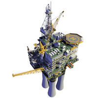 3d model offshore oil platform
