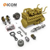 Heavy Industrial Haul Truck Engine Parts