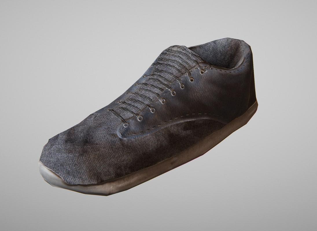 3d shoes games model