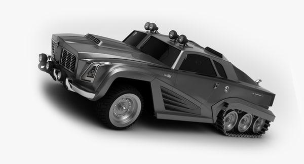 3d concept car guirra