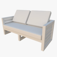 outdoor sofa 3d obj