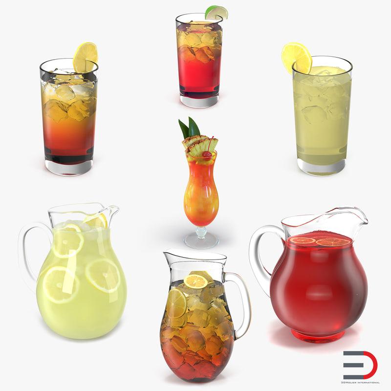 beverages fruit punch 3d model