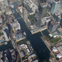 London Canary Wharf Lowpoly 3D City Model