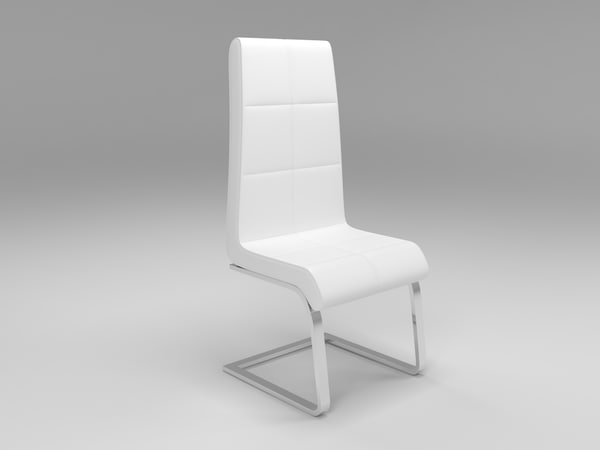 modern faux leather dining chair obj
